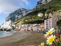 Catalan Bay beach stock photography