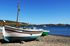 Catalan boat in Cadaques Stock Photo