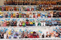 Catalan caganers at Christmas market Stock Images