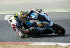 CATALAN CHAMPIONSHIP OF MOTORCYCLING - BORJA GOMEZ Stock Images