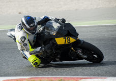 CATALAN CHAMPIONSHIP OF MOTORCYCLING - IKER CARRACEDO Royalty Free Stock Photo