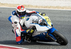 CATALAN CHAMPIONSHIP OF MOTORCYCLING - JAVIER POVES Royalty Free Stock Photos
