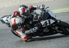 CATALAN CHAMPIONSHIP OF MOTORCYCLING - MANUEL SANTIAGO Royalty Free Stock Photography