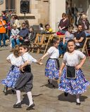 Catalan children traditional dancing festival Royalty Free Stock Image
