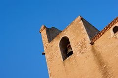 Catalan Church Tower Stock Photography