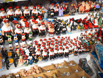 Catalan crib figures. BARCELONA, SPAIN - DECEMBER 11: Some caganers, a character in Catalan mythology relating to a Christmas tradition in Catalonia, at the Stock Images
