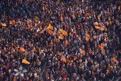 Catalan demonstration Stock Photo