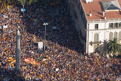 Catalan demonstration Royalty Free Stock Photos