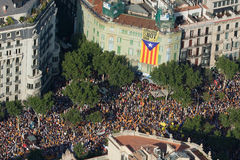 Catalan demonstration Royalty Free Stock Photography