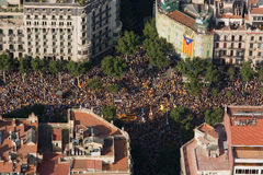 Catalan demonstration Stock Photography