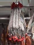 Catalan dry sausages Stock Photo