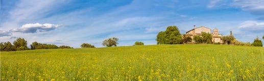 Catalan Farmhouse Panorama Stock Images