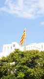 Catalan flag in Barcelona Stock Photos