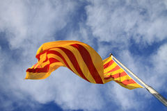 Catalan flag fluttering in the wind Royalty Free Stock Photography