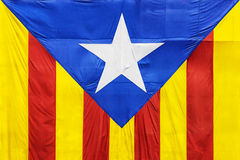 The Catalan flag, сlose-up, isolated Royalty Free Stock Photos