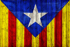 The Catalan flag, сlose-up, isolated Stock Photos