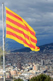Catalan Flag. In Montjuic Castle, Barcelona Stock Image