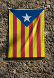 Catalan flag, Spain. Lone star Stock Images