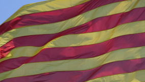 Catalan flag waving on the wind stock video footage