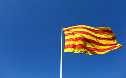 Catalan flagga Royaltyfria Foton