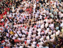 Catalan human towers Royalty Free Stock Photography