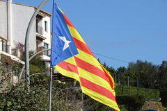 Catalan independence flag in detail Stock Photo