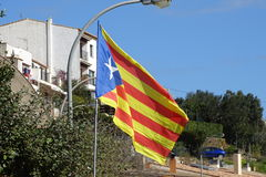 Catalan independence flag in detail Stock Images