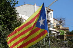 Catalan independence flag in detail Royalty Free Stock Photo