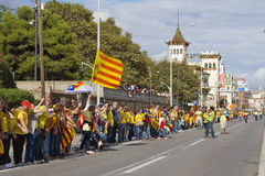Catalan independence movement Royalty Free Stock Photo