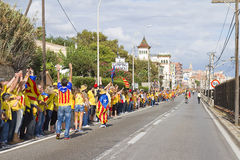 Catalan independence movement Stock Photography