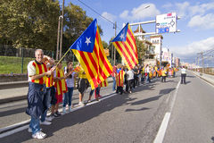 Catalan independence movement Stock Image