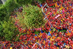 Catalan independence movement on national day Stock Photos