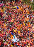 Catalan independence movement on national day Royalty Free Stock Photos