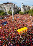 Catalan independence movement on national day Royalty Free Stock Photography