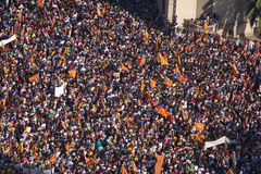 Catalan independence rally Stock Images