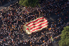 Catalan independence rally Stock Photography