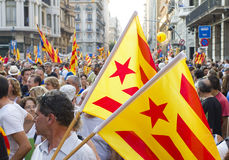 Catalan independence rally Royalty Free Stock Photo