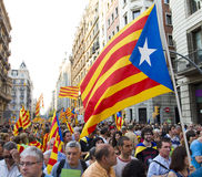 Catalan independence rally Stock Photos