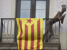 Catalan independent flag Royalty Free Stock Photos