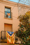 Catalan independentist balconies Royalty Free Stock Photography