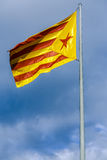 Catalan independentist flag Royalty Free Stock Photo