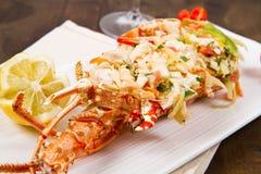 Catalan lobster. On white dish Stock Photos