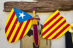 Catalan medieval shield Stock Photography