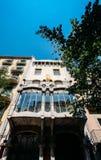 Catalan modernism för Gaudi stil i den historiska mitten av Girona fotografering för bildbyråer