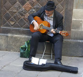 Catalan Musician in Barcelona Royalty Free Stock Photography