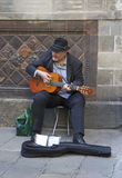 Catalan Musician in Barcelona Stock Photo