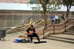 Catalan musiker i Barcelona royaltyfri bild