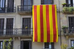 Catalan national flag Stock Photography