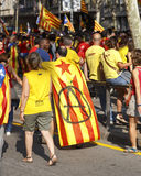 Catalan nationell dag 2014 Royaltyfri Foto
