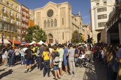Catalan självständighetdemonstration, Spanien Arkivbilder